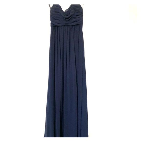 Lula Kate Navy Long Halter Bridesmaid Dress | Poshmark